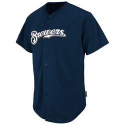 2351 - Brewers Cool Base Button Front Jersey